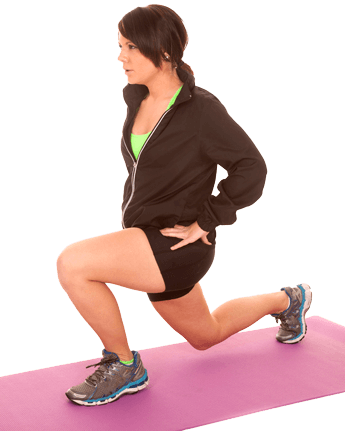 woman-doing-a-lunge-on-her-pink-exercise-mat
